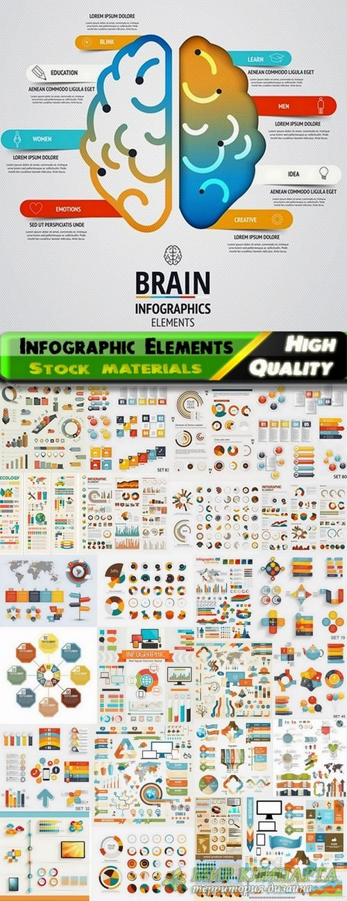 Infographic Design Elements in vector set from stock #91 - 25 Eps