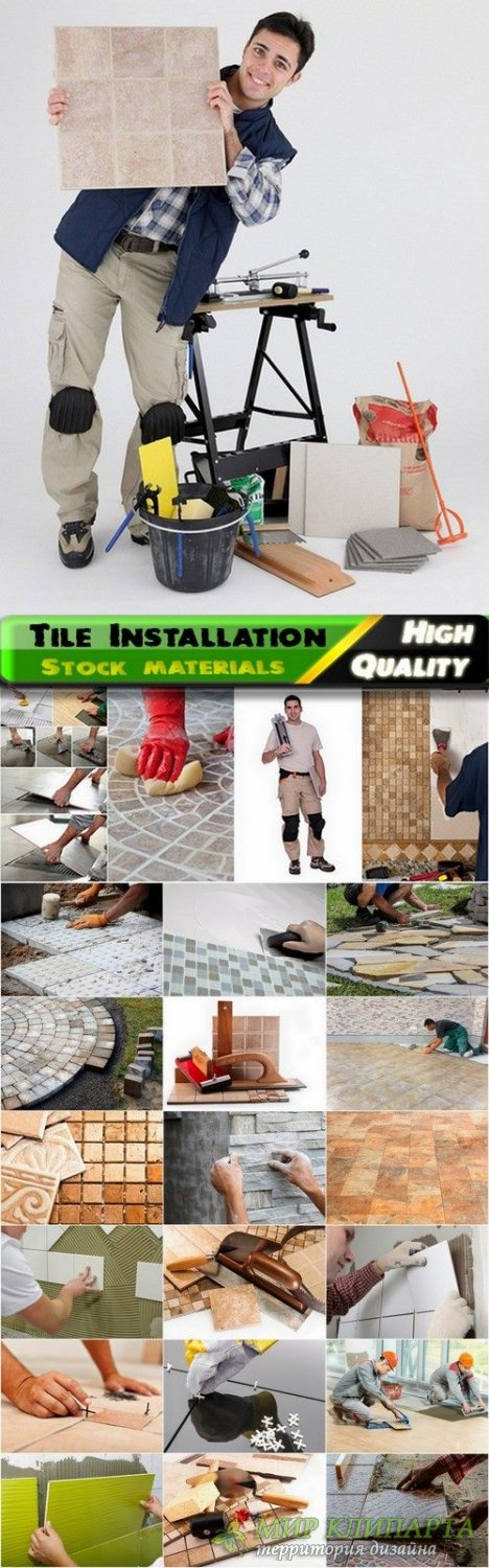 Tile Installation and home repair Stock images - 25 HQ Jpg