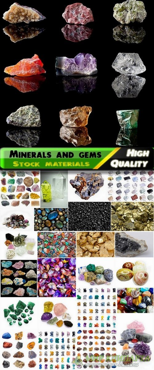 Minerals and gems Stock images - 25 HQ Jpg