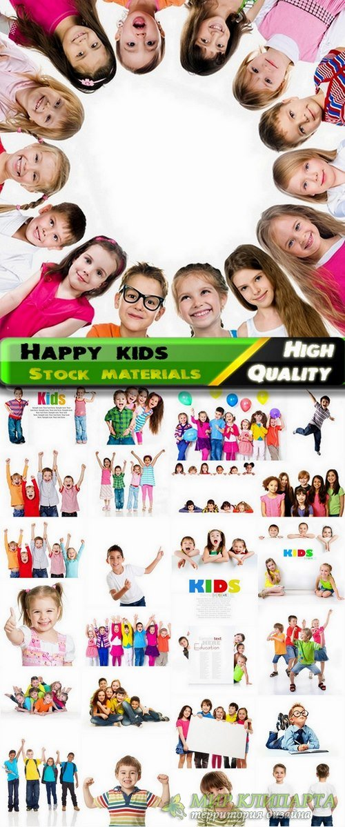 Happy kids on white background Stock images - 25 HQ Jpg