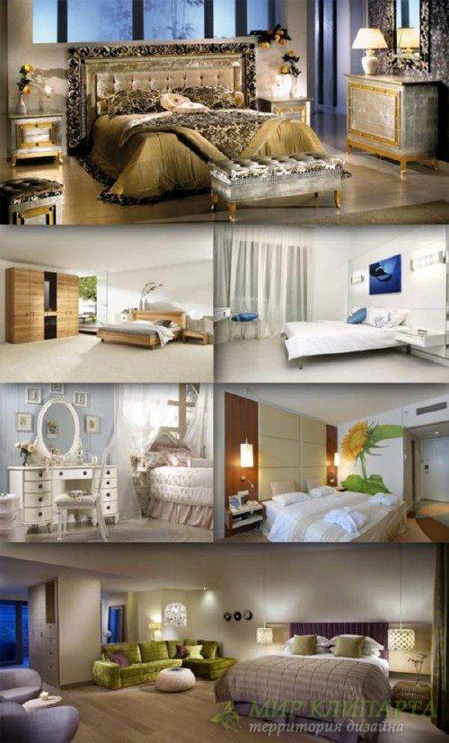 Спальня: большая подборка растровых изображений