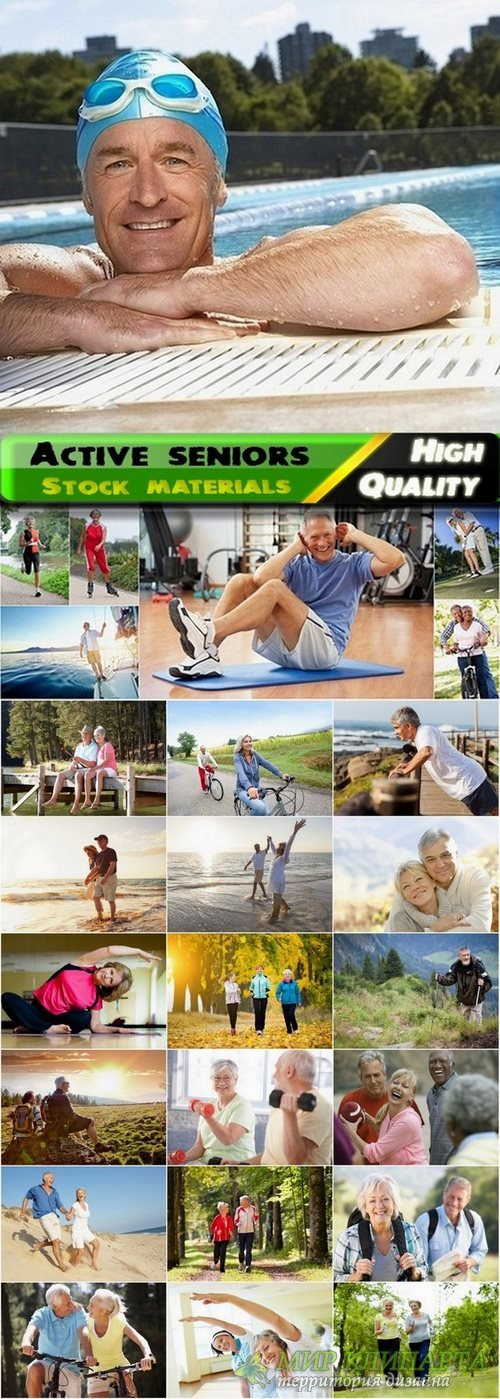 Active seniors and sport old people Stock images - 25 HQ Jpg