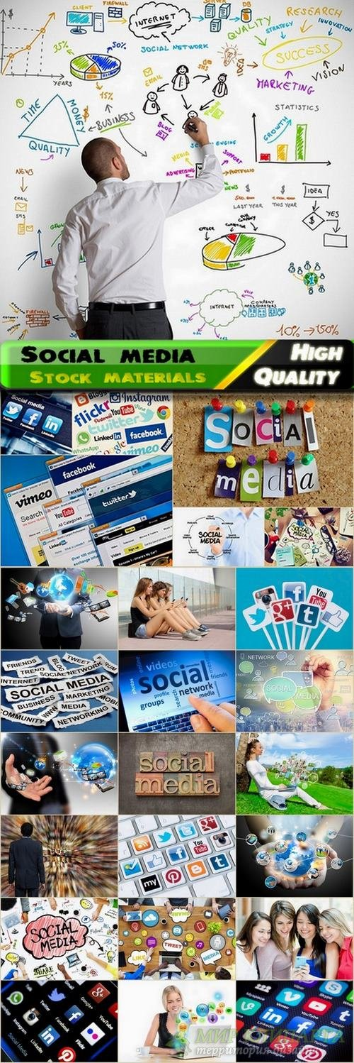 Social media Stock images - 25 HQ Jpg