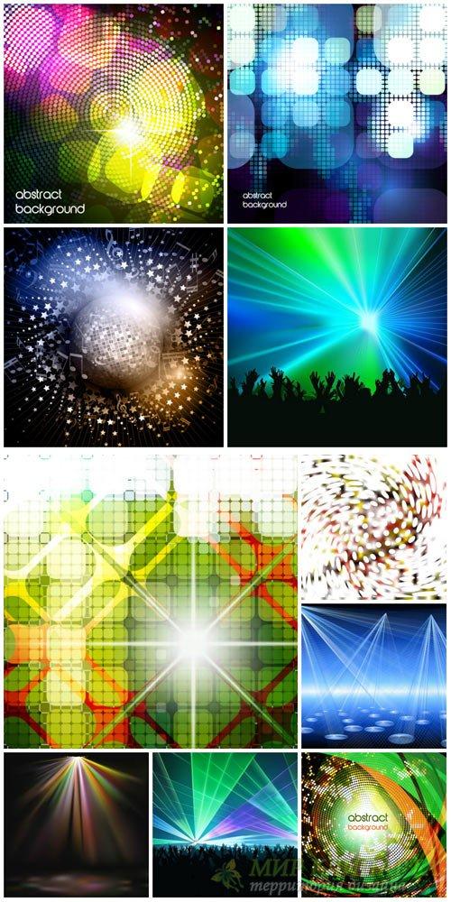 Абстракция, разноцветные диско фоны в векторе / Abstract, colorful disco ba ...