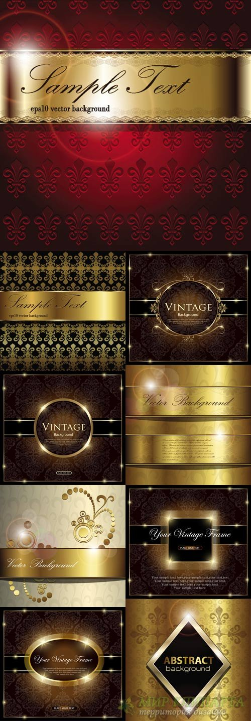 Fine vintage backgrounds