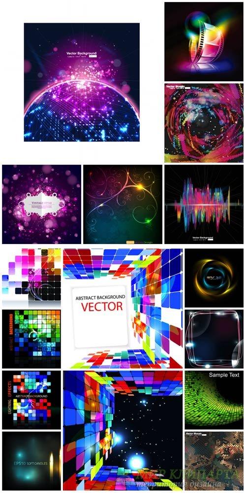 Векторные фоны с абстракцией #18 / Vector backgrounds with abstraction # 18