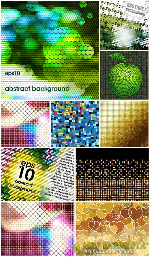 Векторные фоны с абстракцией #15 / Vector backgrounds with abstraction # 15