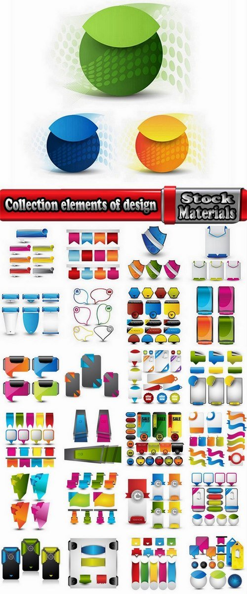Collection elements of design # 3-25 Eps