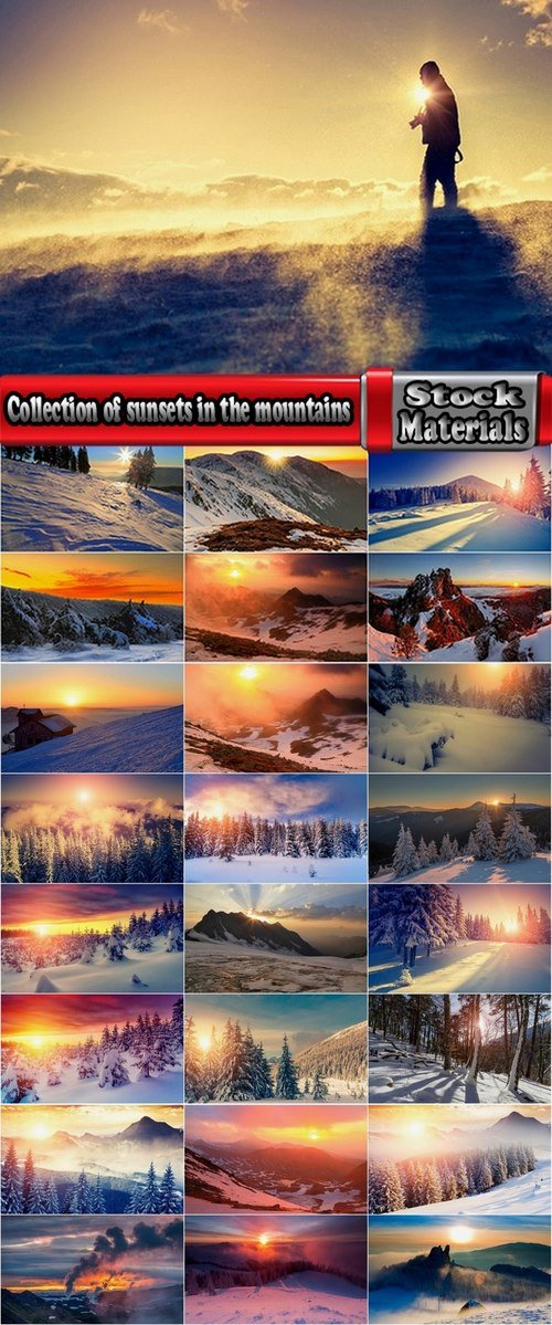 Collection of sunsets in the mountains 25 UHQ Jpeg