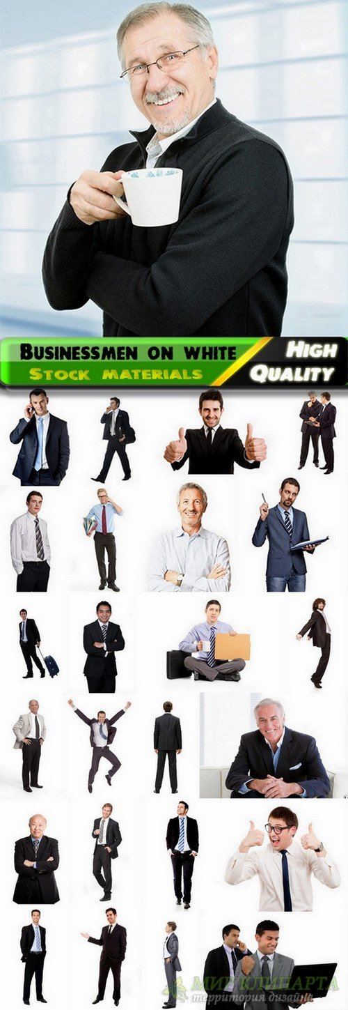 Businessmen on white background Stock images - 25 HQ Jpg