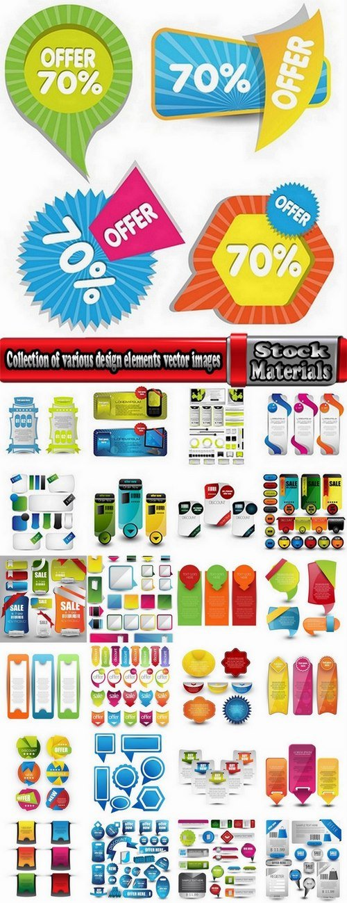 Collection of various design elements vector images #4-25 Eps