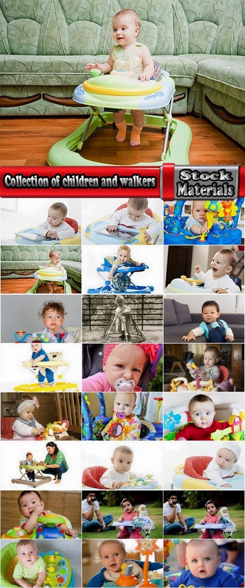 Collection of children and walkers 25 UHQ Jpeg