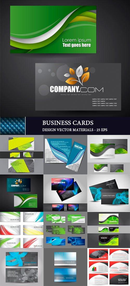 Бизнес шаблоны для визитных карточек 2