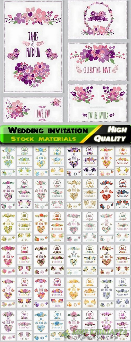 Template for Wedding invitation in vector from stock #2 - 25 Eps