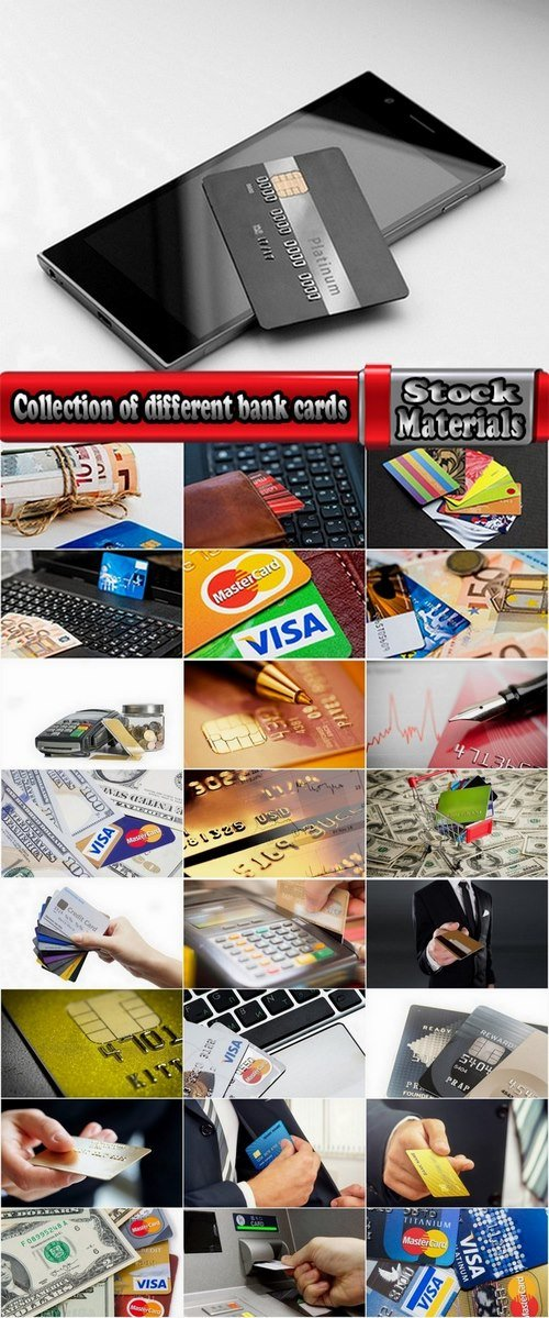 Collection of different bank cards 25 UHQ Jpeg