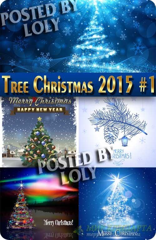 Новогодние елки 2015 #1 - Векторный клипарт