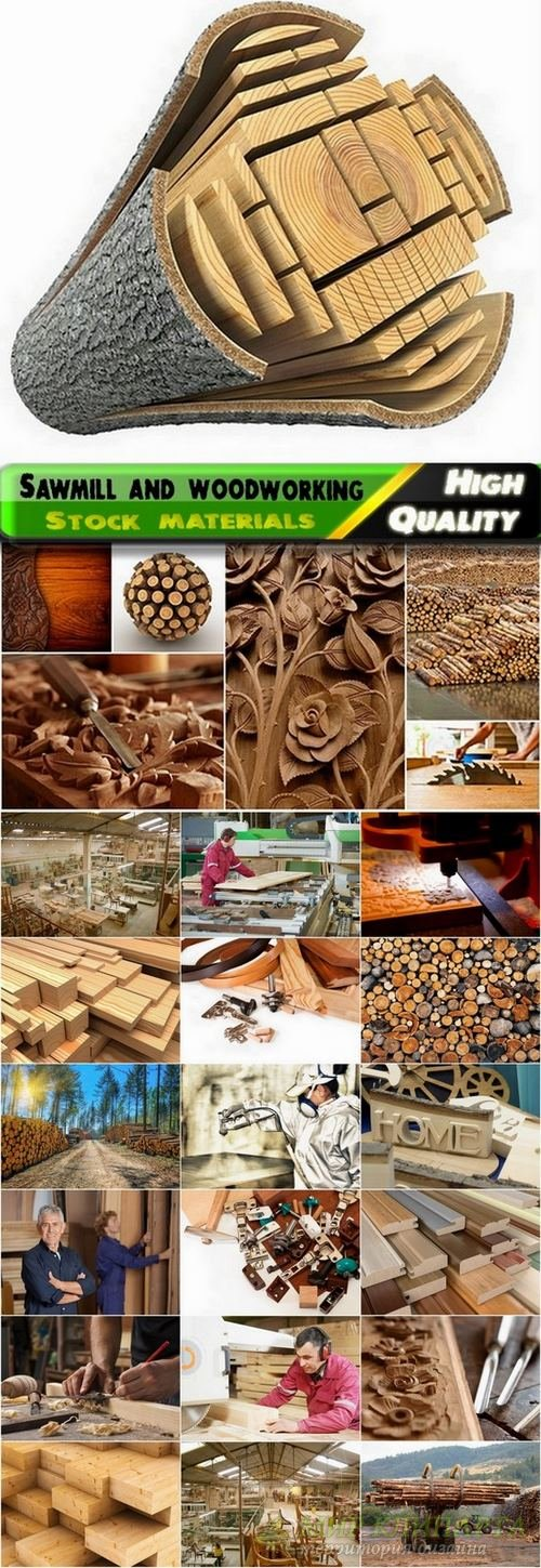 Sawmill and woodworking Stock images - 25 HQ Jpg