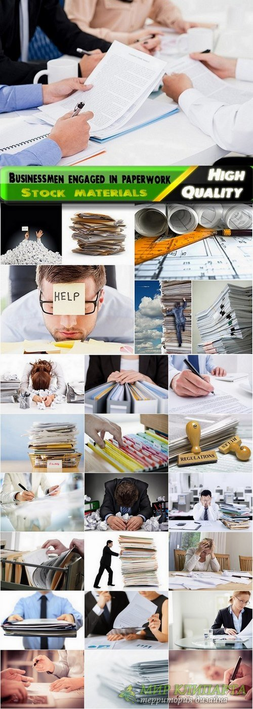 Businessmen engaged in paperwork Stock images - 25 HQ Jpg