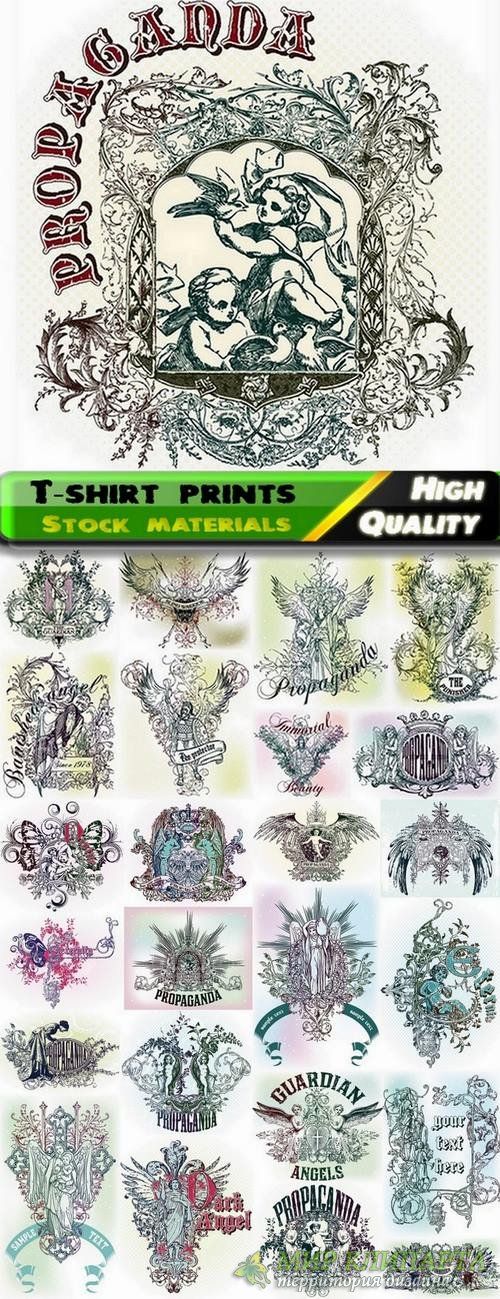 T-shirt prints design in vector from stock #11 - 25 Eps