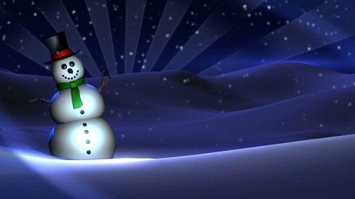 Новогодняя видео заставка - Забавный снеговик