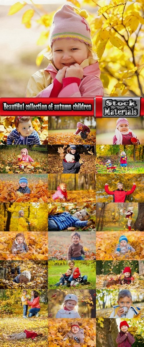 Beautiful collection of autumn children 25 UHQ Jpeg