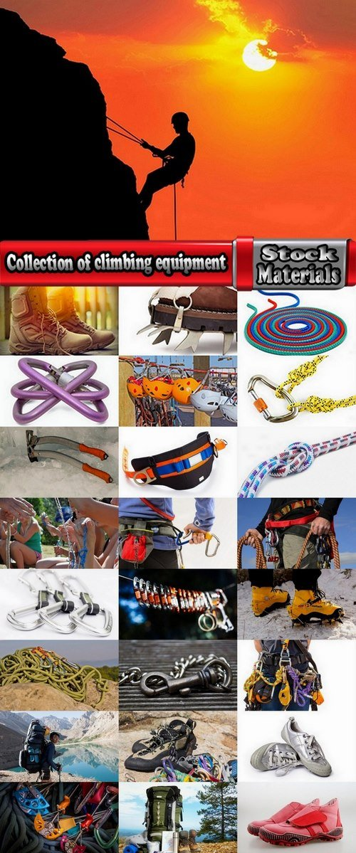 Collection of climbing equipment 25 UHQ Jpeg