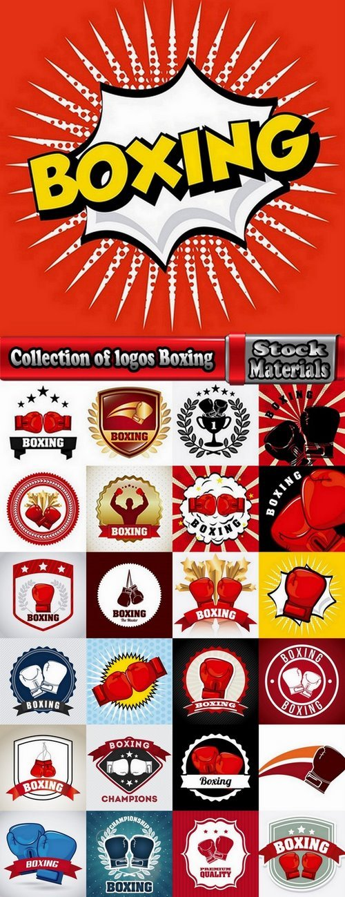 Collection of logos Boxing 25 Eps