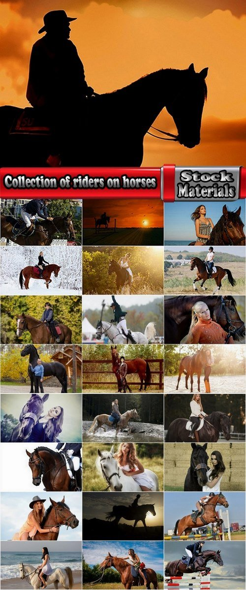 Collection of riders on horses 25 UHQ Jpeg