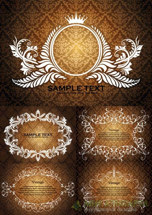 Damask frame backgrounds