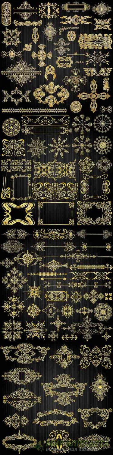 Beautiful gold pattern