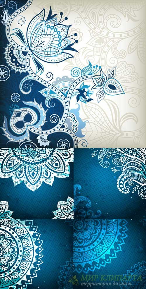 Retro blue backgrounds
