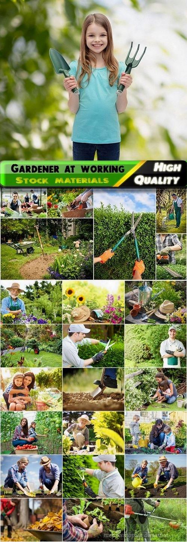 Gardener at working Stock images - 25 HQ Jpg