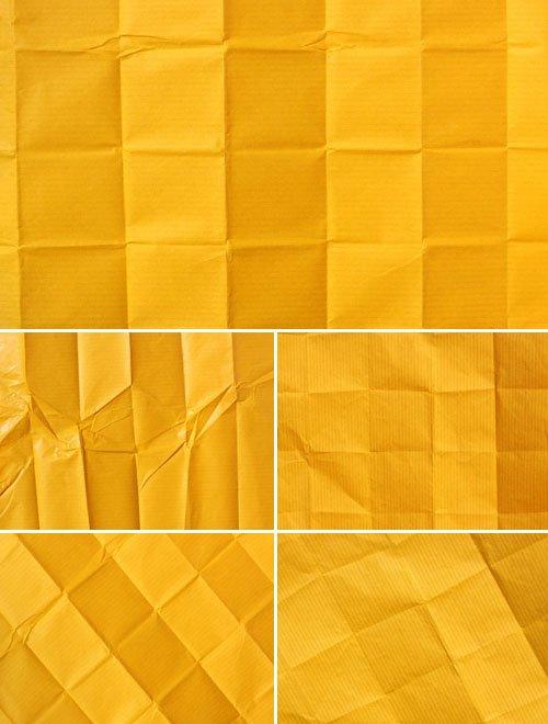Желтая старая бумага