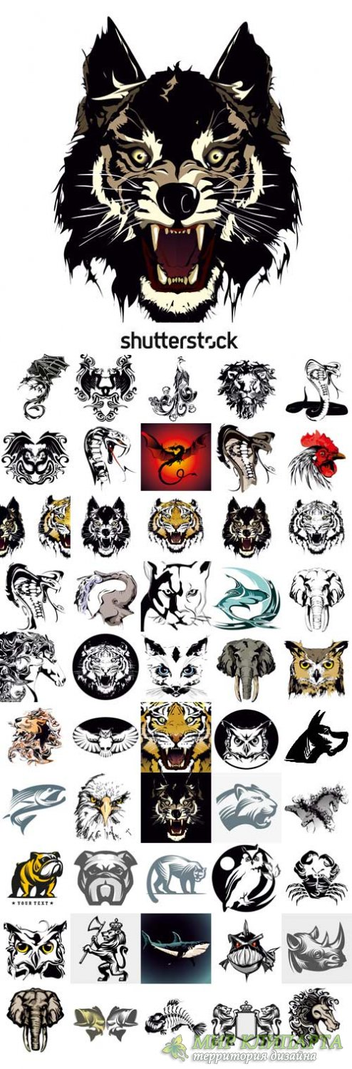 Shutterstock - Vector drawings of tattoos