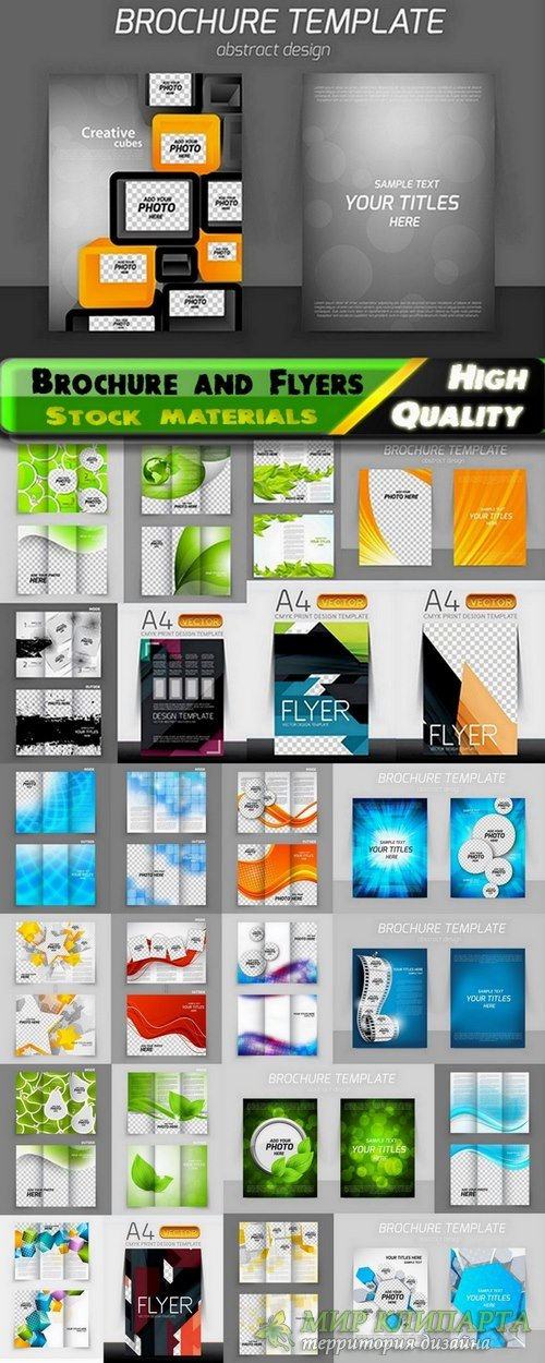 Brochure and Flyers Template Design in vector from stock #24 - 25 Eps