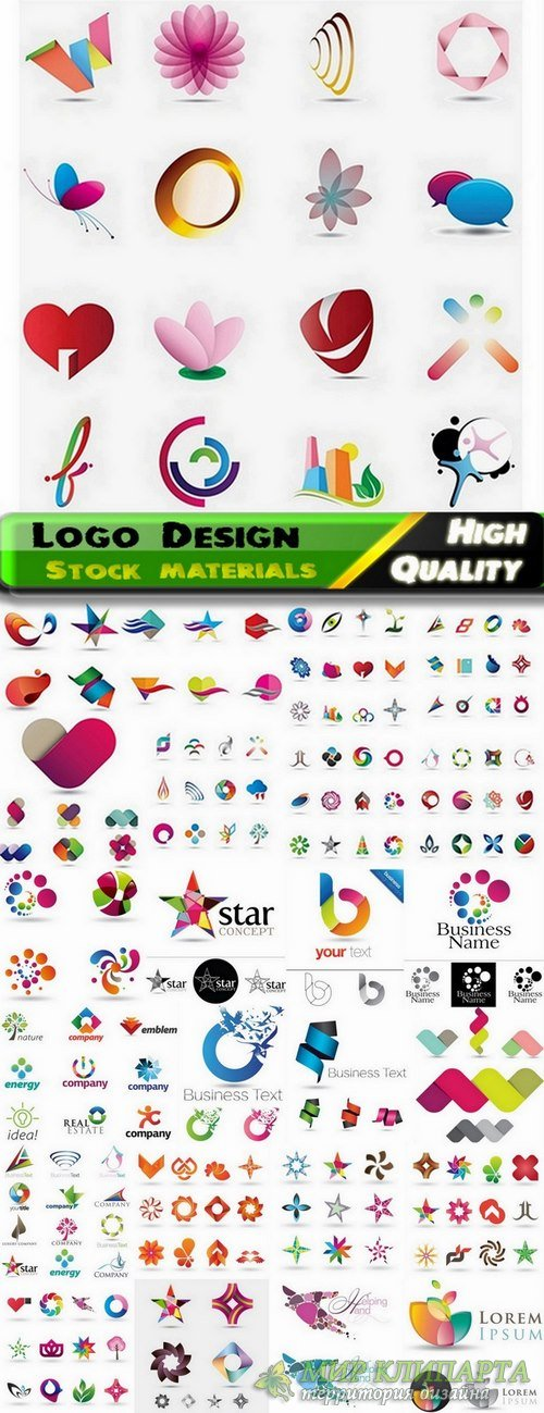 Logo Design in vector Set from stock #42 -  25 Eps