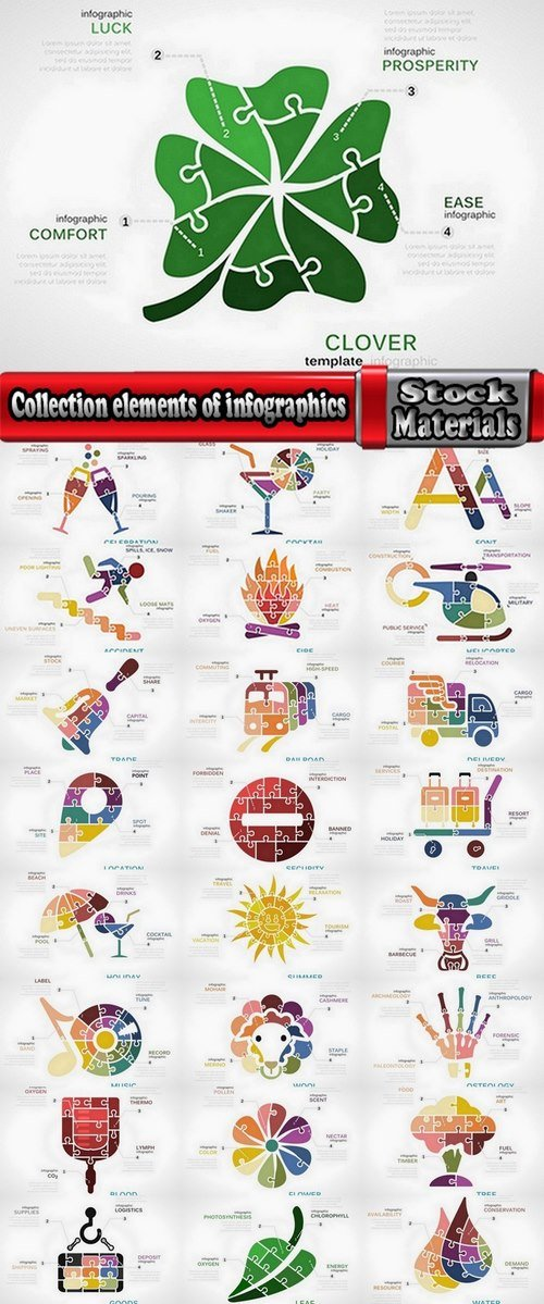 Collection elements of infographics shopping vector image #2-25 Eps