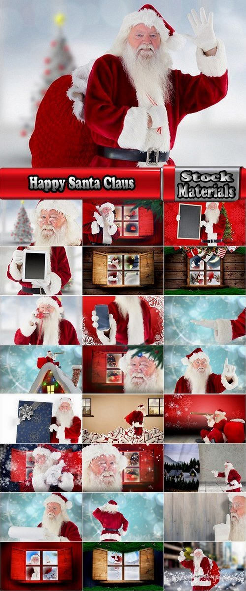 Happy Santa Claus 25 UHQ Jpeg