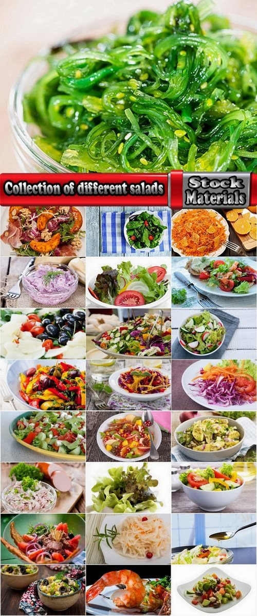 Collection of different salads 25 UHQ Jpeg