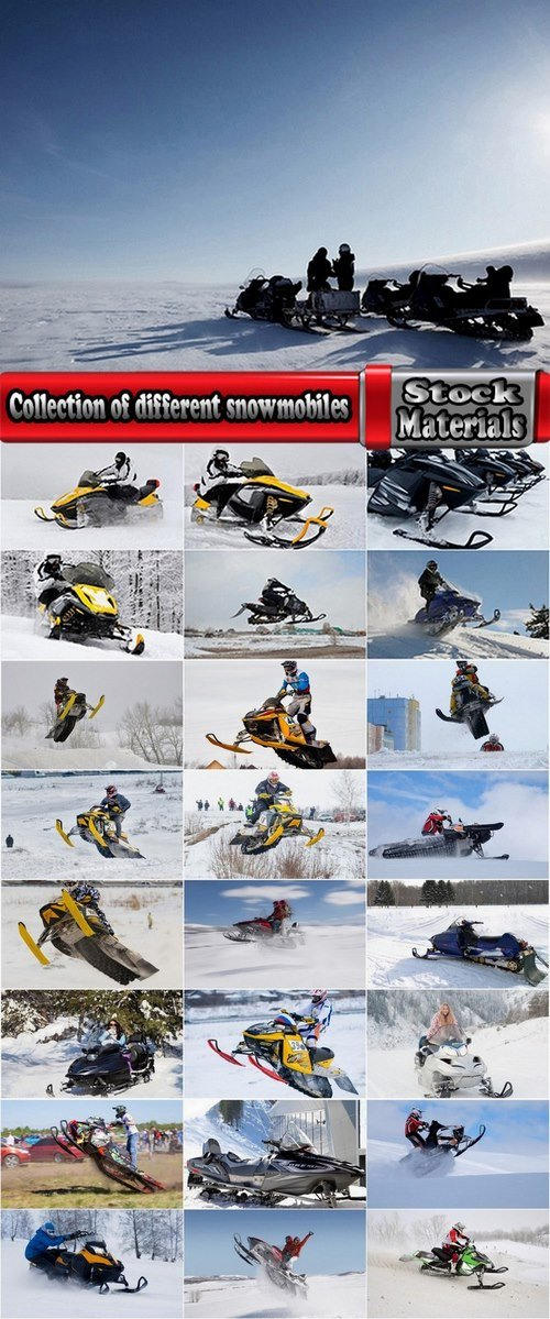 Collection of different snowmobiles 25 UHQ Jpeg