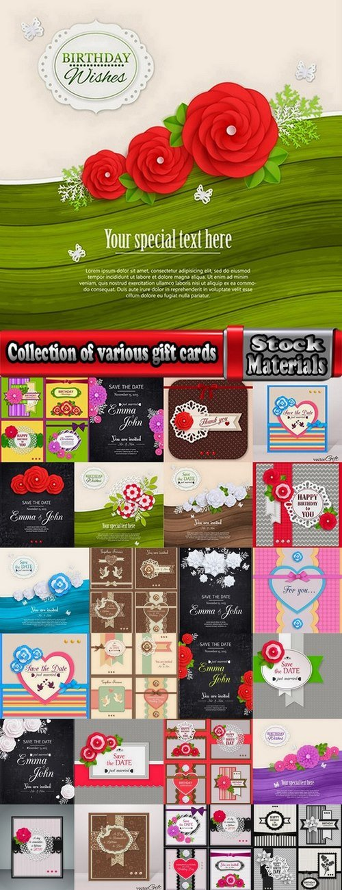 Collection of various gift cards #2-25 Eps