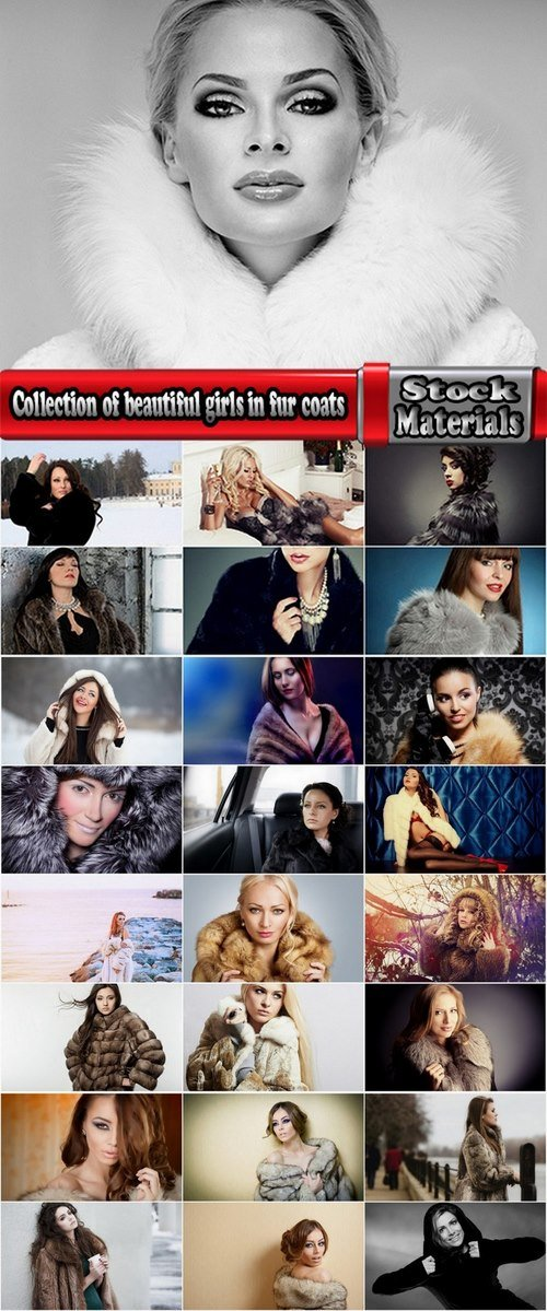 Collection of beautiful girls in fur coats #2-25 UHQ Jpeg