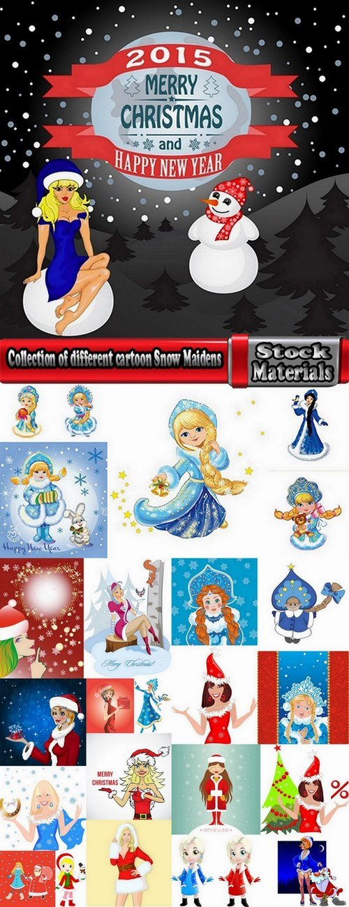 Collection of different cartoon Snow Maidens 25 Eps