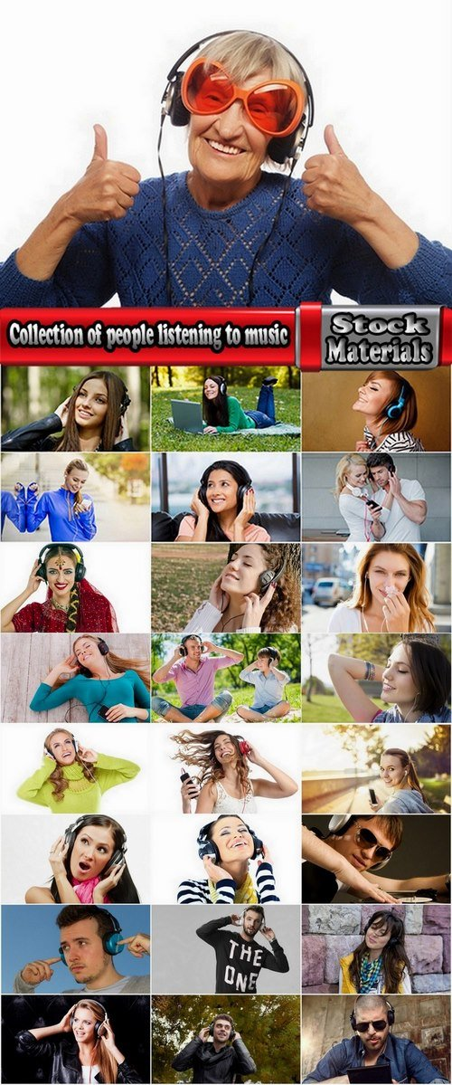 Collection of people listening to music 25 UHQ Jpeg