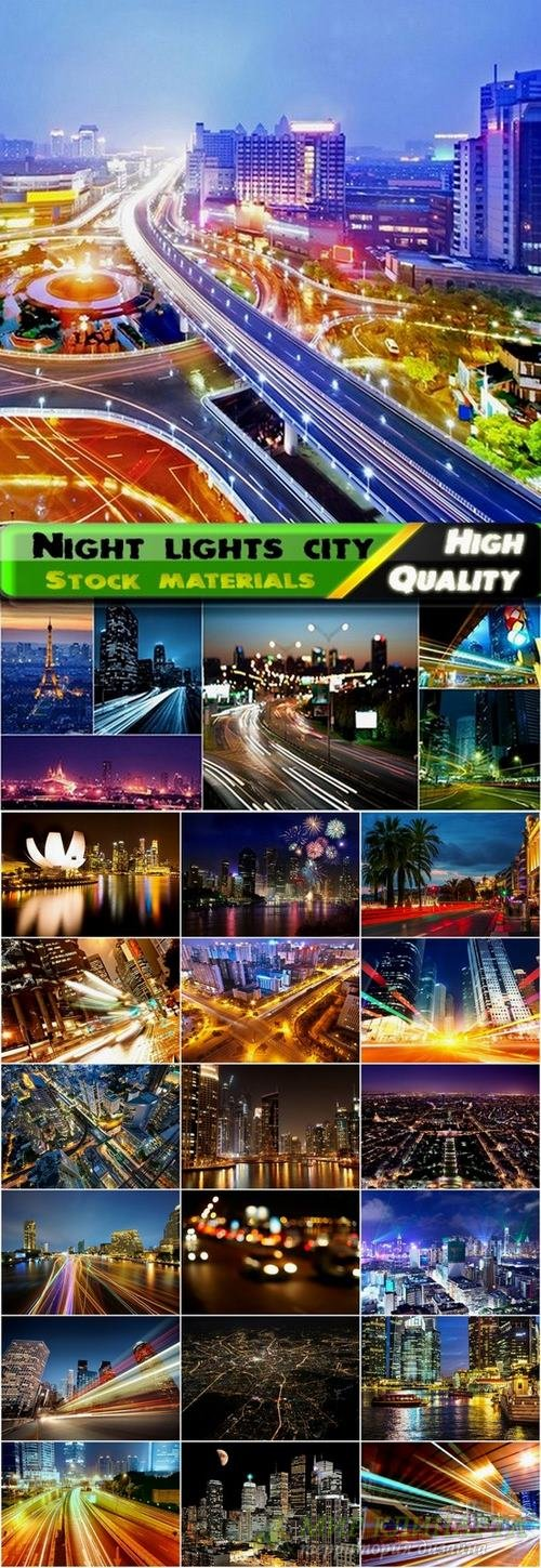 Night lights city Stock images - 25 HQ Jpg