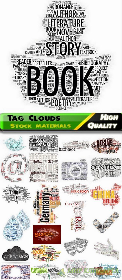 Tag Clouds Business Concept #3 - 25 Eps