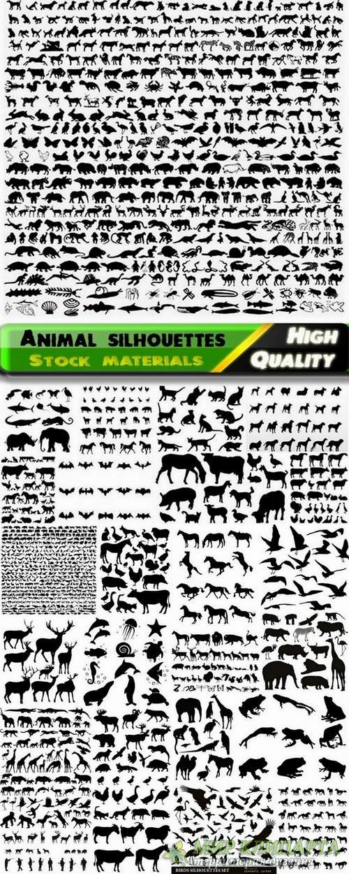 Animal silhouettes in vector from stock - 25 Eps