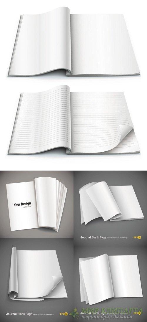 Exquisite vector blank notebook