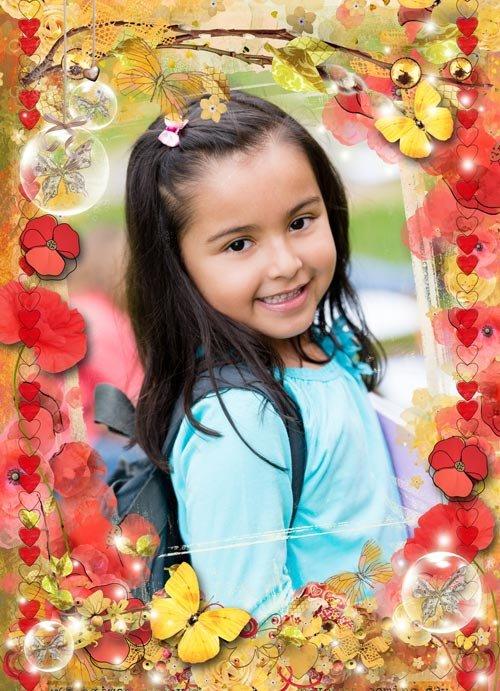 Рамочка для девочек - последние осенние деньки