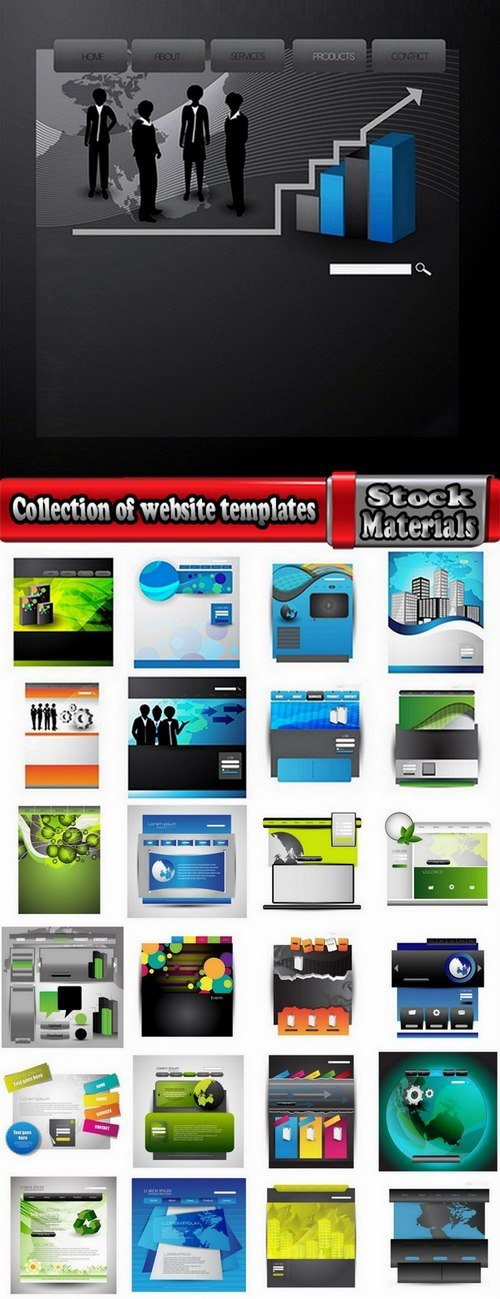 Collection of website templates 25 Eps